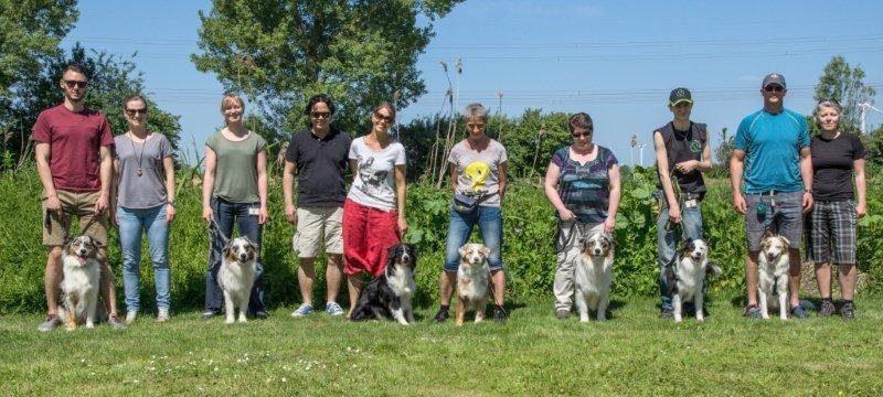 Sally met 6 van haar 8 kinderen waren aanwezig op deze warme dag